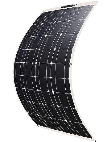 Betop-camp Panel Solar Fotovoltaico Monocristalino Semi Flexible de 100W Flex para RV, Barco