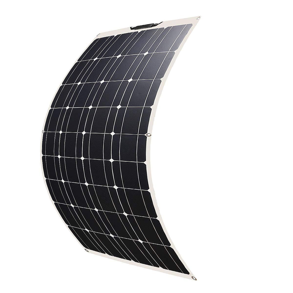 Remolque Bater/ía 12V o Cualquier otra Superficie Irregular Betop-camp Panel Solar Fotovoltaico Monocristalino Semi Flexible de 100W Flex para RV Autom/óvil Barco Tienda