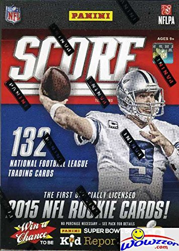 2015 Score NFL Football HUGE Factory Sealed Retail Box with 11 Packs and 132 Cards! Includes Guaranteed PLAYER WORN or ROOOKIE RELIC CARD ()