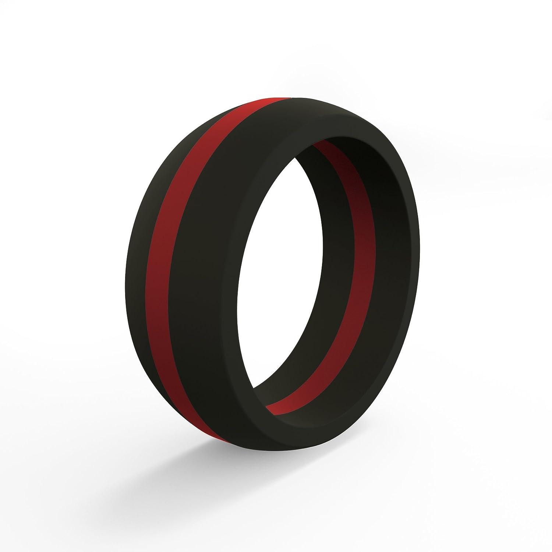最愛 QALO-メンズシリコンリング(品質は、陸上競技 -、愛とアウトドア)は16-25のサイズを B01E0CFP30 Line Silicone Red Line - Silicone Ring 8 8|Red Line - Silicone Ring, ラッキーパンダ:6130071a --- arianechie.dominiotemporario.com