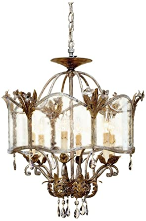 Currey and Company 9387 6 Light Zara Ceiling Mount ...