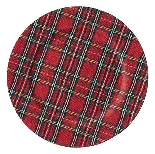 Mud Pie Tartan Christmas Charger, Multicolor