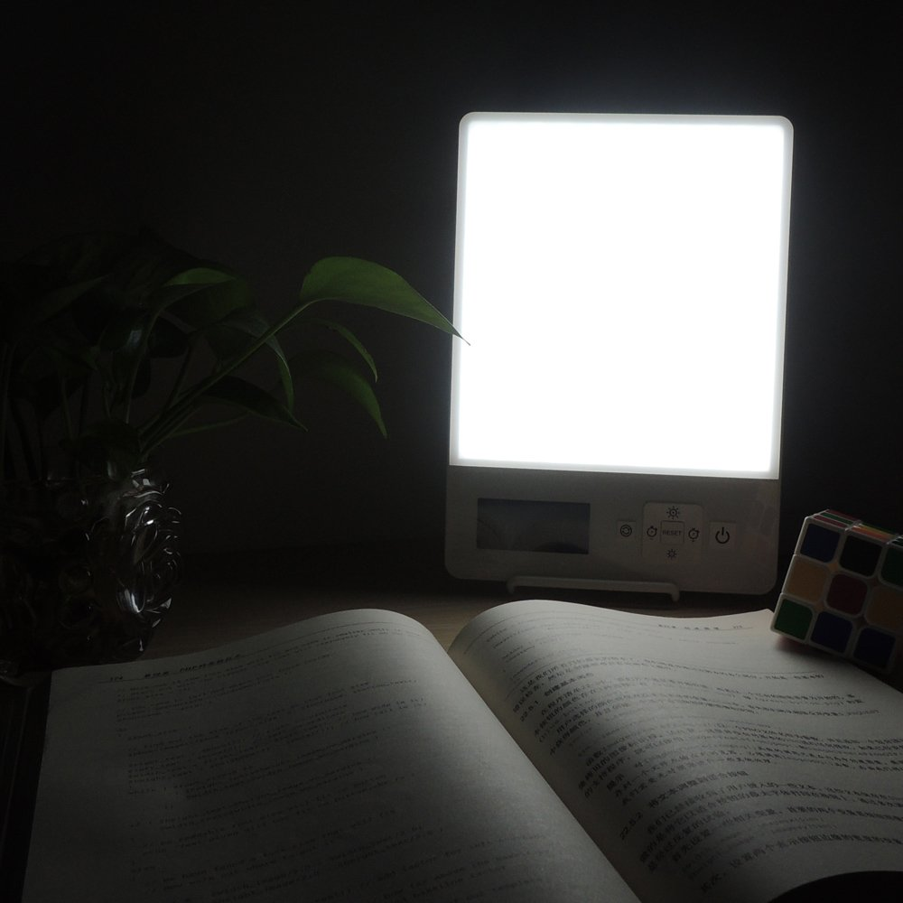 EnjoyNaturalSunLifeC Seasonal Affective Disorder Energy Light Lamp For Sad Depression With Customizable Daylight/Blue Intensity&Mode,Full Spectrum-10,000Lux Daylight/200Lux BlueLight Therapy Light Box by EnjoyNaturalSunLifeC (Image #2)