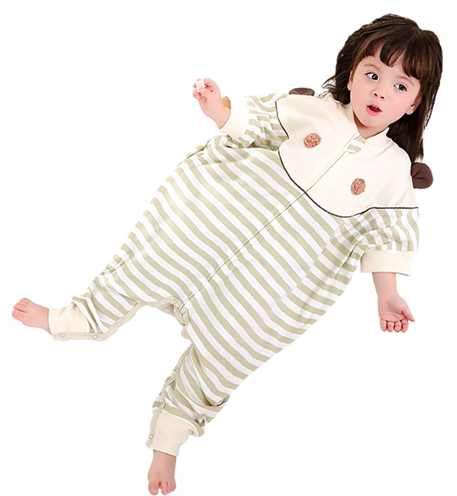Cyuuro Baby Sleep Sack Organic Dolman Sleeve Toddler Wearable Blanket with Feet