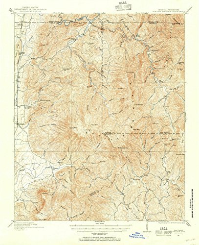 Georgia Maps | 1911 Cohutta Mountain, GA USGS Historical Topographic Map |Fine Art Cartography Reproduction Print (Ga Cohutta)