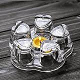 tea light teapot - TAMUME Crystal-Clear Glass Teapot Warmer Stable Holder for Tealight Stand for Teapot (400-1200ml) - Large (White)