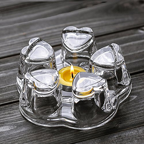 TAMUME Crystal-Clear Glass Teapot Warmer Stable Holder for Tealight Stand for Teapot (400-1200ml) - Large -