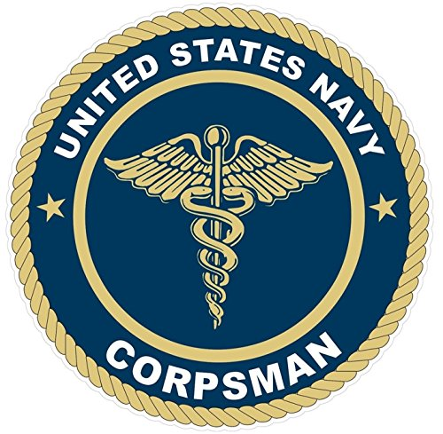 1Pc Monumental Unique United States U S  Navy Corpsman Stickers Signs Wall Home Outdoor Truck Bumper Decals Sticker Decor Trucks Window Decal Car Cars Vinyl Bike Macbook Laptop Patches Size 4 5 X4 5