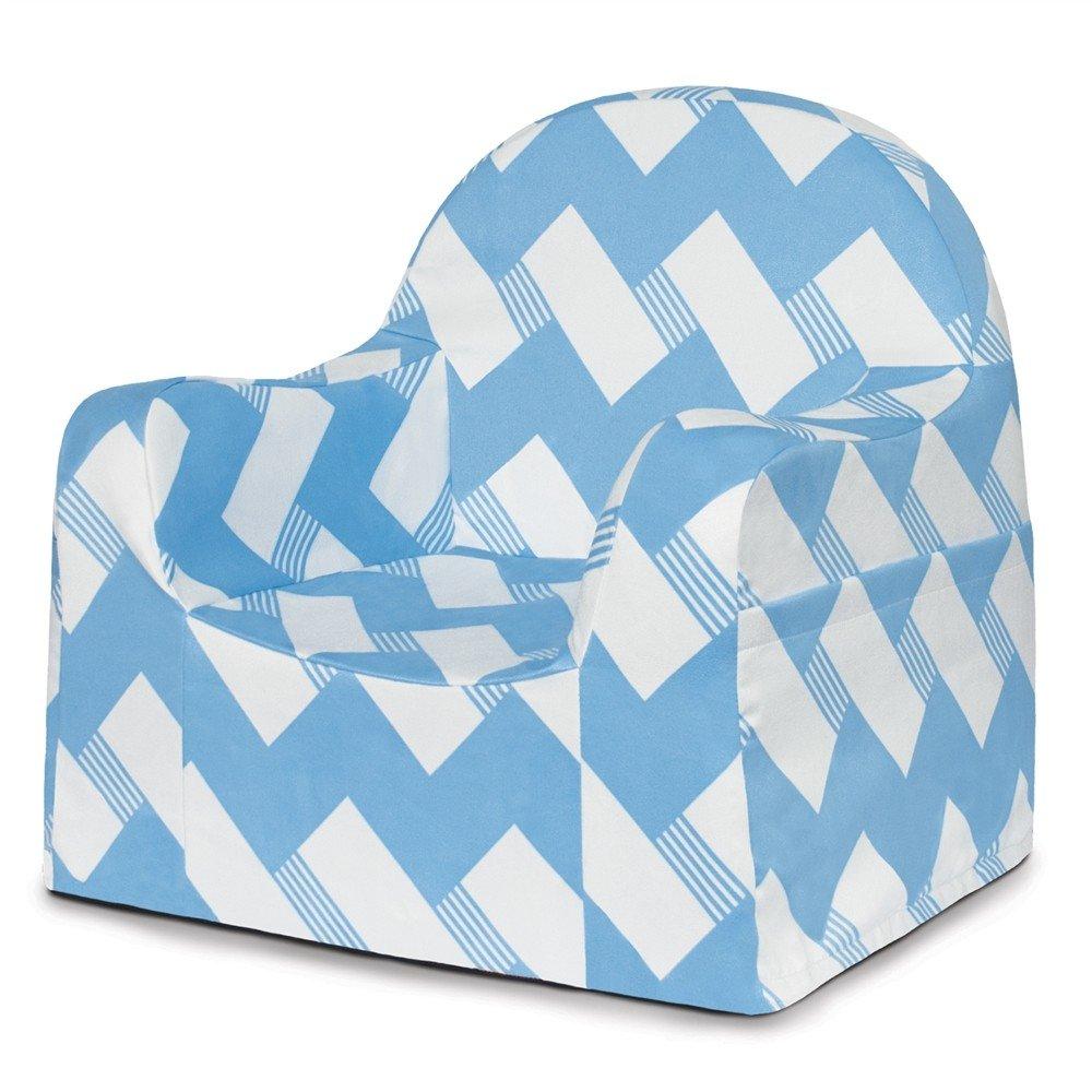 P'kolino PKFFLRBS Little Reader Chair - Blue/white/orange P'kolino