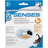 Catit 55602 / 50761 Wasserenthärtender Ersatzfilter 2er-Pack für 3L Senses Trinkbrunnen