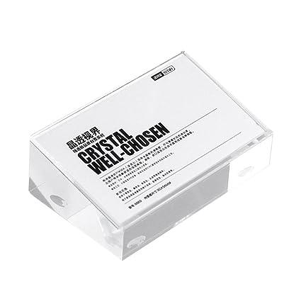 100 * 100 * 32 mm acrílico funda para teléfono móvil etiqueta de precio Holder biselado