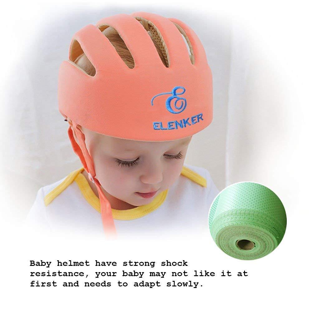 ELENKER Adjustable Baby Toddler Safety Helmet Hat Head Protection Gray