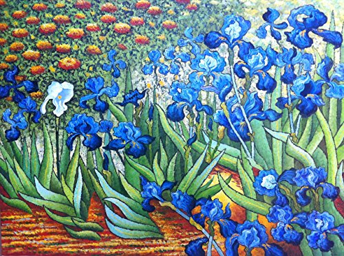 Counted Cross Stitch Patterns: Irises by Van Gogh (Great Artists ()