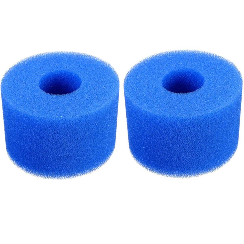 1.18x3.54x4.02 in gofidin 2 Pcs Swimming Pool Hot Tub Filter Foam Reusable Filter Cartridge for Intex Type