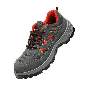 Baoblaze Zapatos de Trabajo Seguridad Zapatos de Acero para Hombres Botas de Senderismo Transpirables - EU41