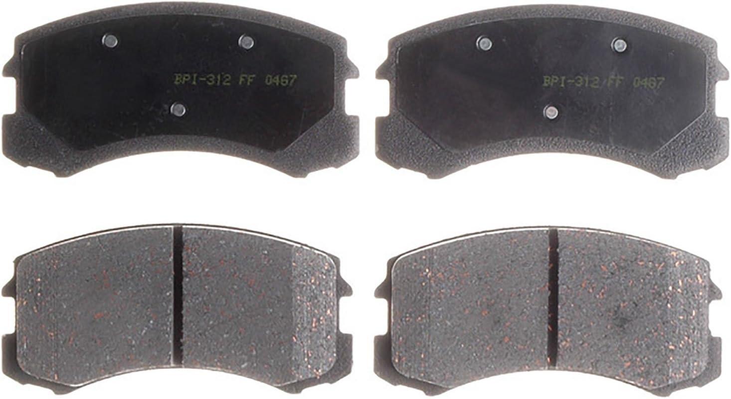 Disc Brake Pad Set-Ceramic Disc Brake Pad Front,Rear ACDelco Advantage 14D154CH