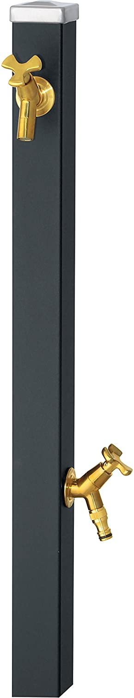 ユニソン(UNISON) 立水栓 スプレスタンド60 左右仕様 マットブラック 蛇口2個セット ゴールド B01IH1HSAI 27517  マットブラック