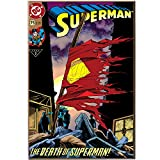 Silver Buffalo  SP7536DC Comics Death of Superman No.75 Wood Wall Art Plaque, 13 by 19-Inch