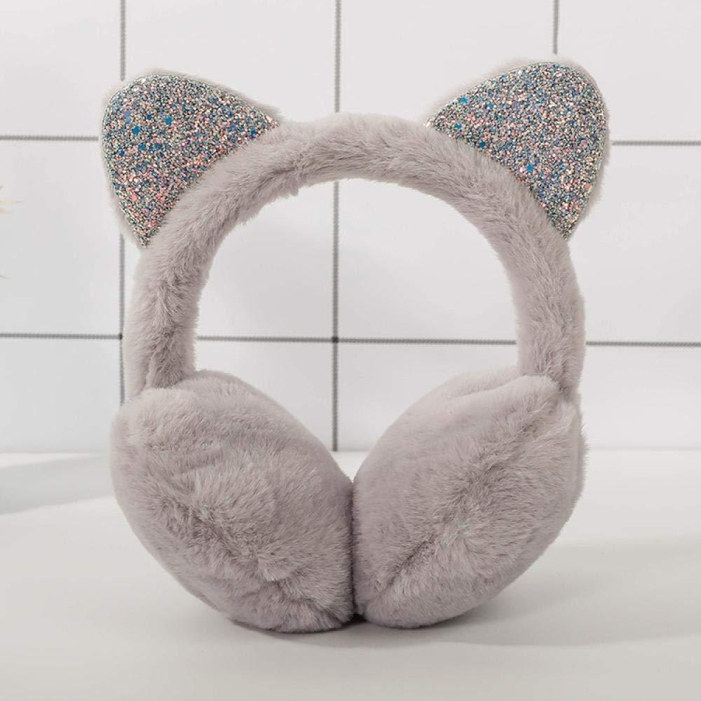 las orejas de imitaci/ón anticongelantes de pelo de conejo rosa claro,Orejeras plegables de tama/ño ajustabl Las orejeras se mantienen calientes y fr/ías.,Las orejeras se mantienen calientes en invierno