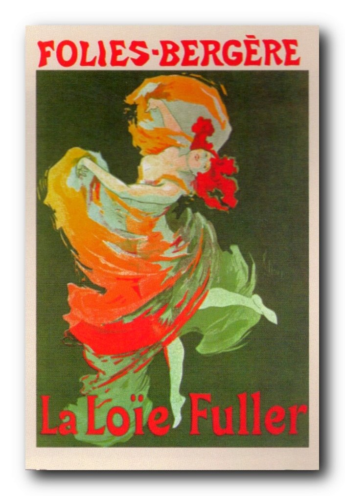 Wall Decor La Loie Fuller Dance at Folies-Bergere by Jules Cheret Vintage Advertising Art Print Poster (24x36)