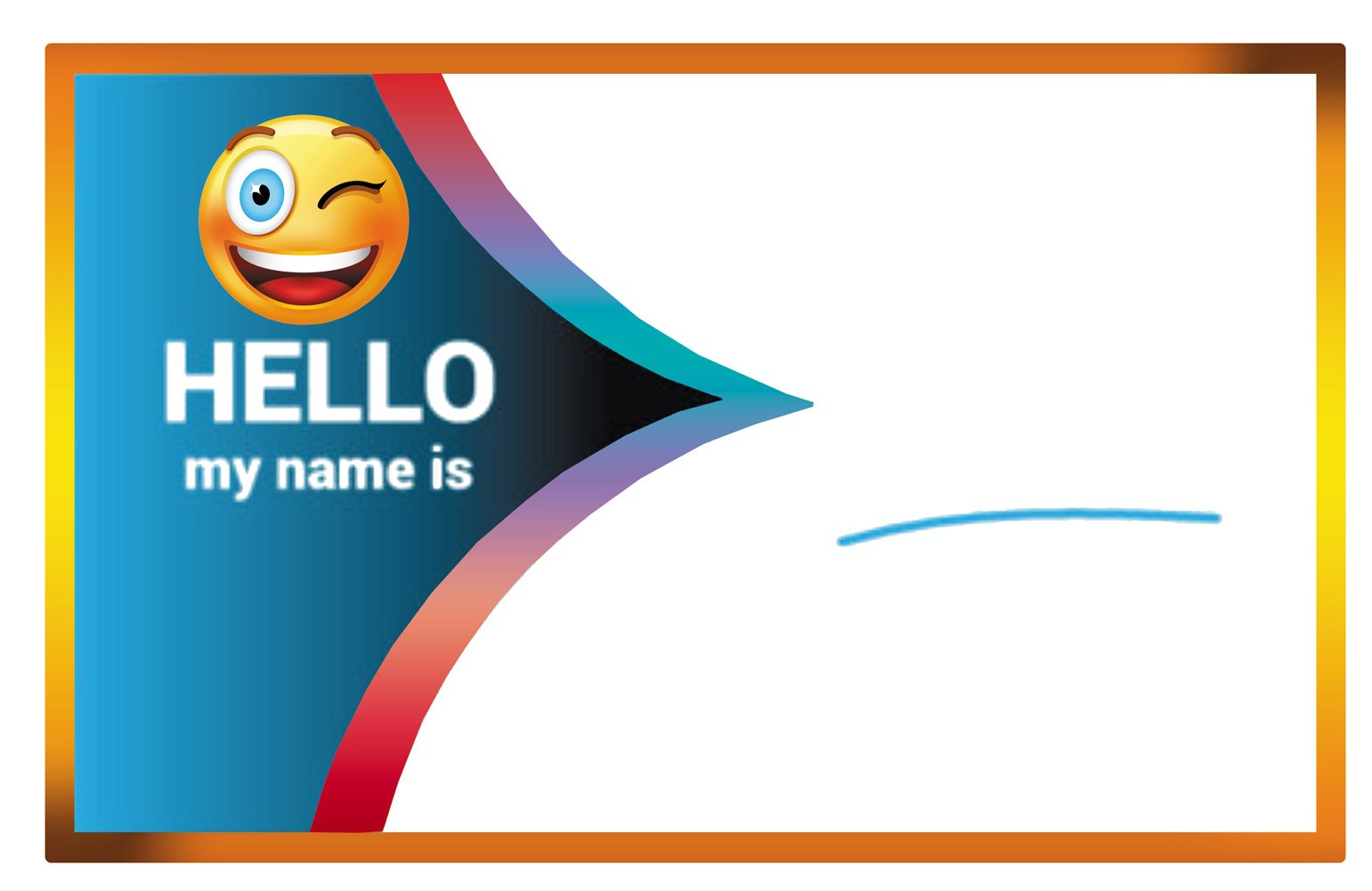 Magic Human 300 Pack of Hello My Name is Stickers Colorful Happy Face Adhesive Roll Labels Tag Badges