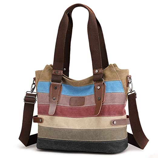 Travistar Handtasche Multi-Color-Striped