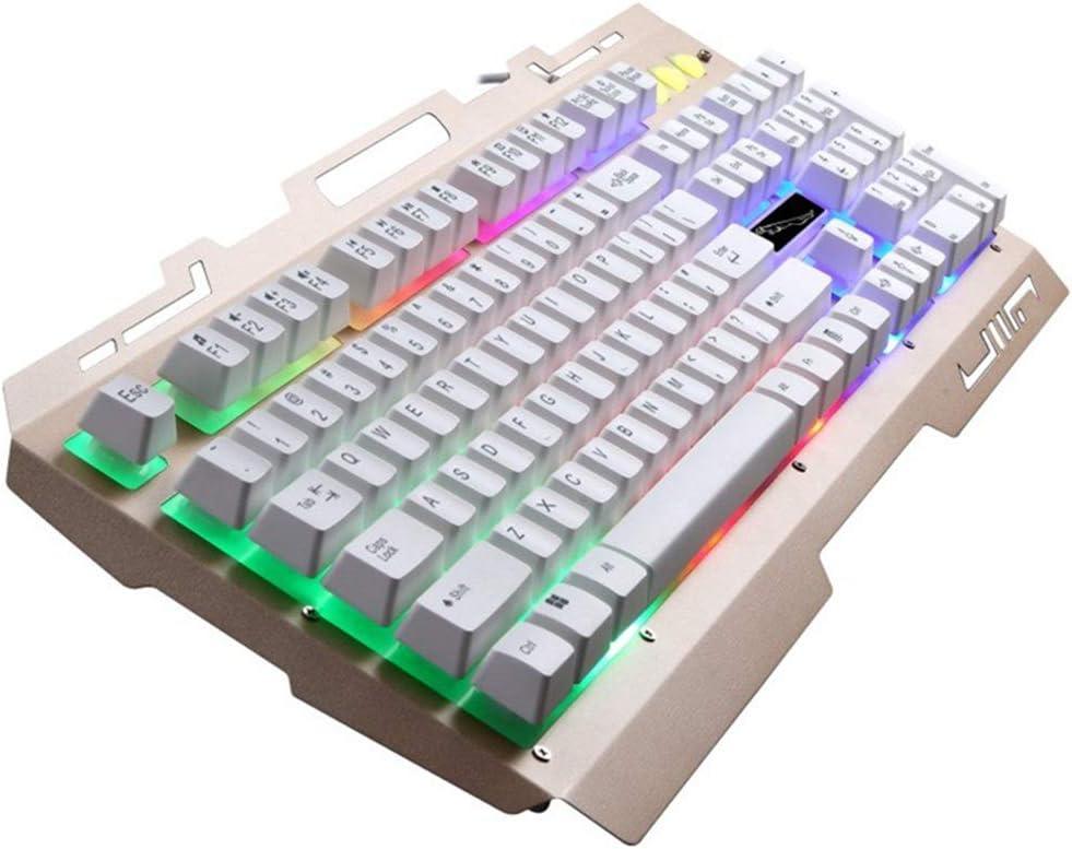 EASON Gaming Keyboard Wired USB Keyboard Backlight Mechanical Sense Metal Lighting Extreme Board Design Computer Notebook