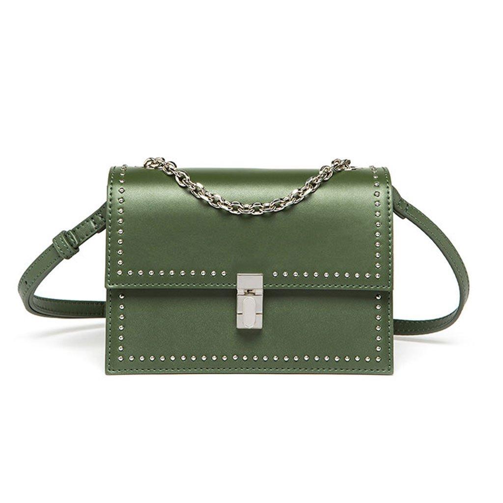 Handtaschen Art- und Weiseeinfachen Handtaschen-Gezeiten-Verschlussschulter-Kuriertasche der Niet dekorative (Farbe   rot) B07F9WP8D3 Umhngetaschen