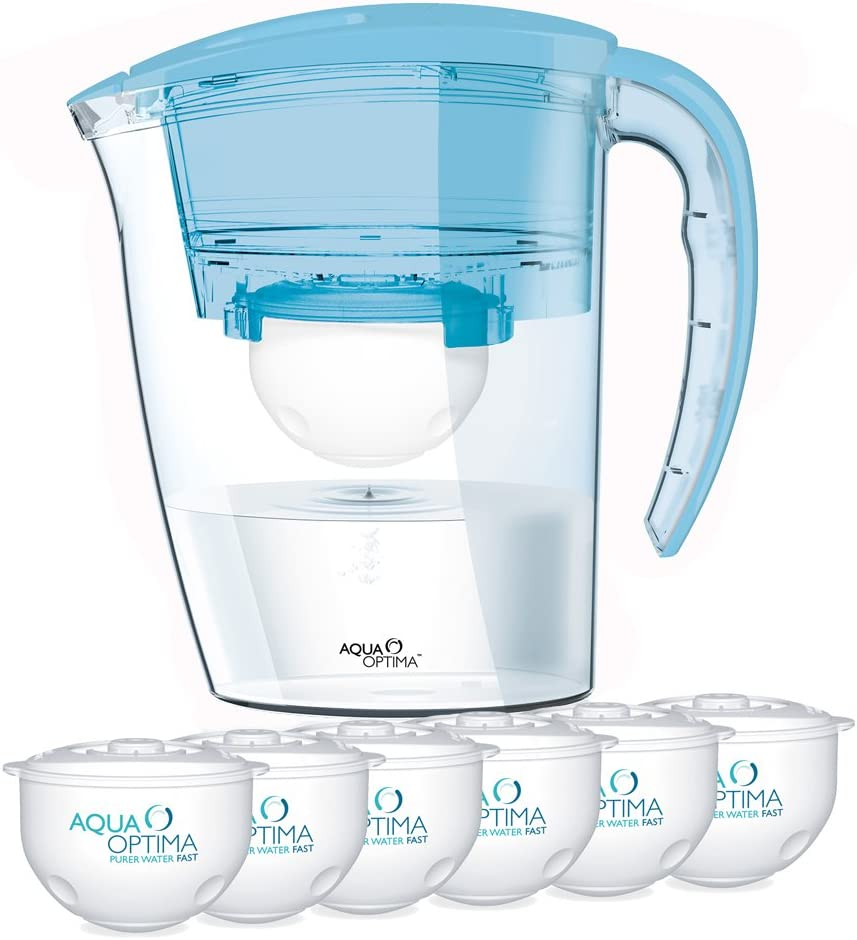Aqua Optima Jarra con Filtro de Agua, Azul, 1 año: Amazon.es: Hogar