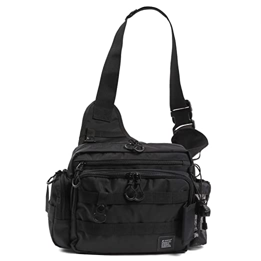 Leastatフィッシングバッグロッドホルダー付き大容量軽量ワンショルダーバッグタックルバッグの画像