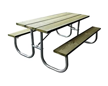 Amazon.com : Aluminum picnic table frame commercial grade-frame only ...