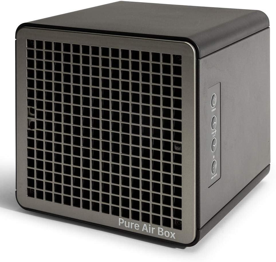 HAVERLAND PUREAIRBOX - Purificador Desinfectador de Aire y Superficies PCO | Eficacia 99,99% + Eficacia que filtros HEPA | Germinicida | Hasta 140m2 | Luz UV + Ionizador + OZONO Baja Concentración
