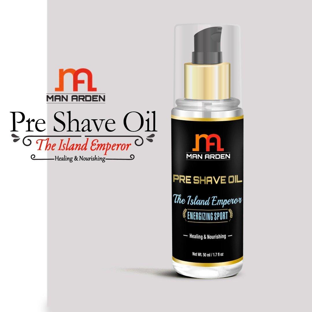 Hombre Arden Pre Afeitado aceite - la isla emperador (Energizante deporte) - curación y nutritivo 50 ml - para un afeitado suave experiencia: Amazon.es: ...