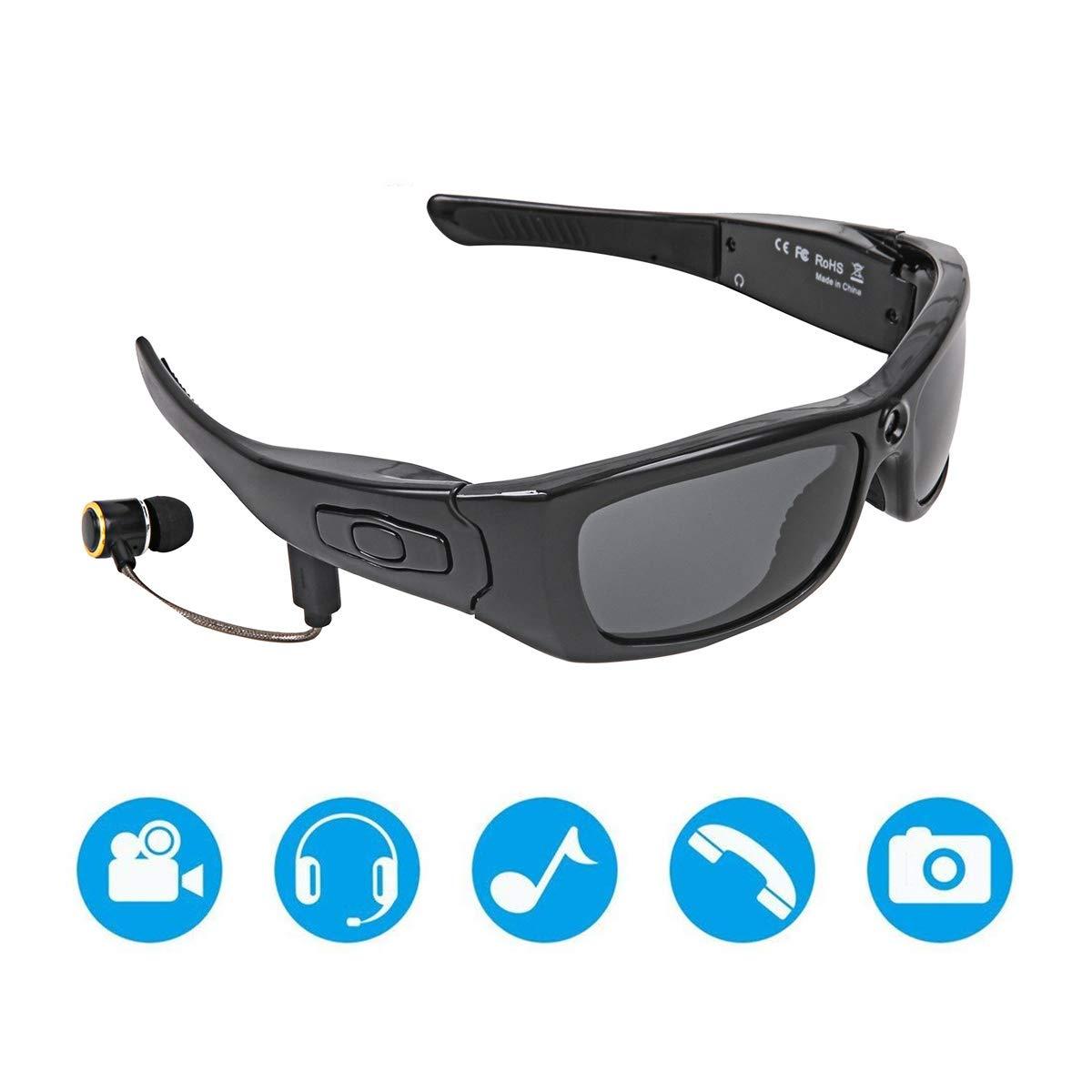 Amazon.com: Julitech Sport Waterproof Video Sunglasses ...