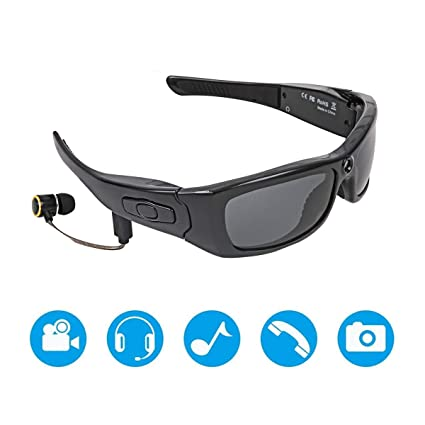 aa938a49d55e Amazon.com  Julitech Sport Waterproof Video Sunglasses
