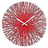 koziol SILK Wall Clock, red