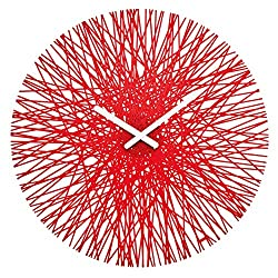 koziol SILK Wall Clock, red
