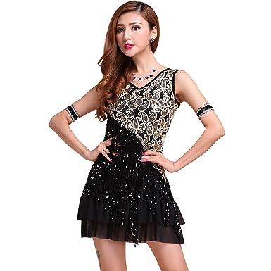 50560a8af726 Loveble Latin Tango Rumba Salsa Tassels Dance Dress: Amazon.co.uk: Clothing