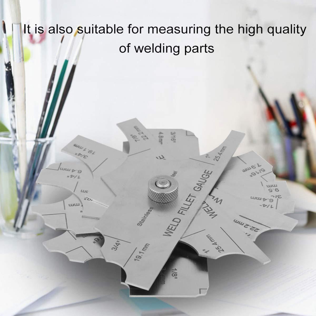 Fillet Weld Gauge Gage Set Stainless Steel Welding Inspection Gauge Inch Metric