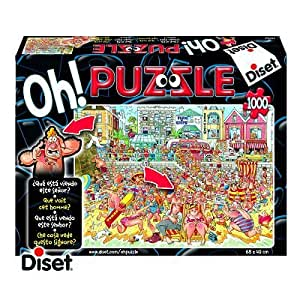 Diset 13104 - Oh! Puzzle - Puzzle de 1000 piezas - ¿Qué pasa en la playa?