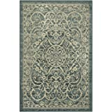 Maples Rugs Area Rugs, [Made in USA][Pelham] 7' x 10' Non Slip Padded Large Rug for Living Room, Bedroom, and Dining Room - Light Spa