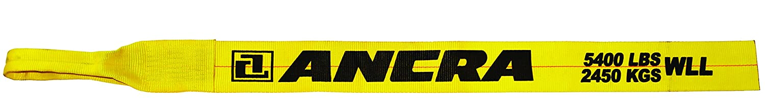 Ancra 43795-15-30 Winch Strap with Chain End 4-Inch by 30-Feet 5,400-Pounds Working Load Limit