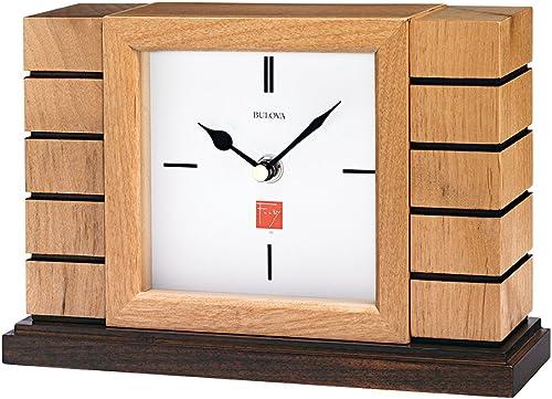Bulova B1659 Usonian II Frank Lloyd Wright Mantel Clock