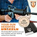 "Grizzly Mat Gun Cleaning Mat | Double the Thickness of Other Gun Cleaning Mats| 6mm | Long, Black Gun Cleaning Pad for AR-15 and Most Rifles | 35.75"" x 12"" Dimensions"