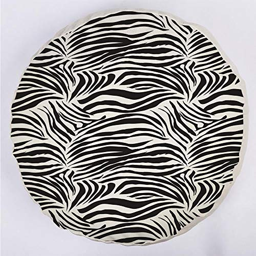 YOUWENll Round Decorative Throw Pillow Floor Meditation Cushion Seating/Striped Zebra Animal Print Nature Wildlife Inspired Fashion Simple Illustration/for Home Decoration 17
