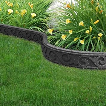 Incroyable Flexi Curve Garden Border Rubber Lawn Edging   Scroll   Grey Gardening  Decorative Feature