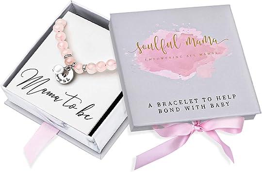 Mommy To Be Gift Pregnancy Gift Rose Quartz Baby Bonding Bracelet Ideal Pregnancy Gift New Mom Gift Babyshower Gift Or Gift For Mom To Be Amazon Ca Baby