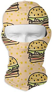 dfegyfr Neck Scarf Sunscreen Hats Hamburger Pattern Sun UV Protection Dust Protection Wind-Resistant Face Mask for Running Cycling Fishing