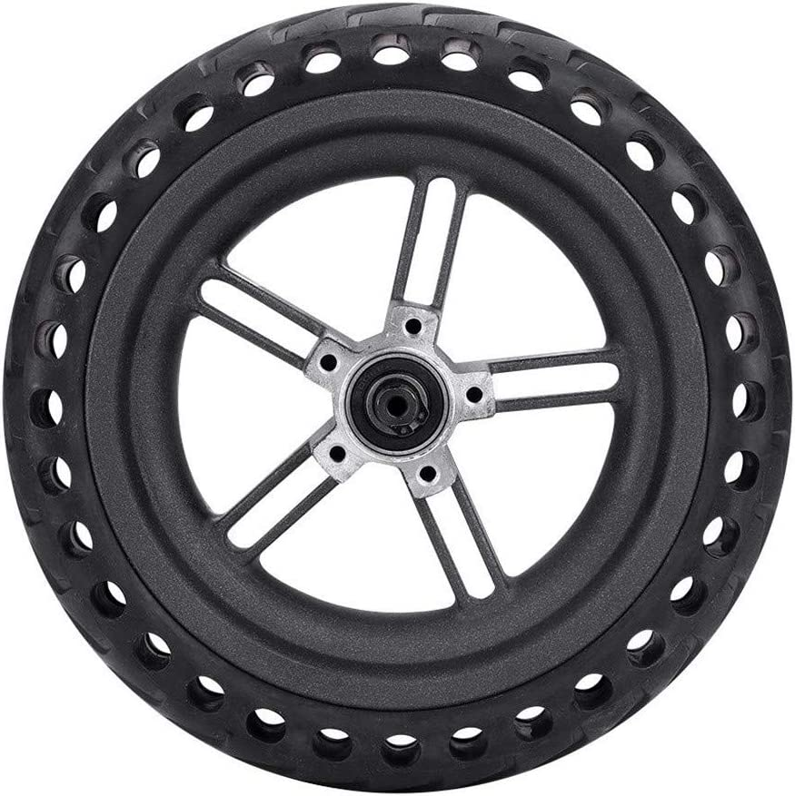 ASTVSHOP Wheel Hub and Explosion-Proof Tire Set Replacement for Electric Scooter Xiaomi Mijia M365 Black 1 Peice