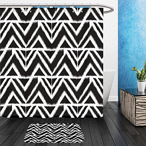 Vanfan Bathroom 2Suits 1 Shower Curtains & 1 Floor Mats seamless pattern abstract background for textile design wallpaper surface textures wrapping 476907640 From Bath room - Echelon Echelon Shower Locker